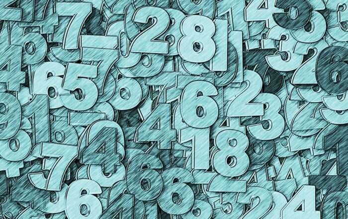 numbers against a light background